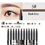 Portátil 12 unids lápiz de ceja lápiz cosmético para sombra de ojos natural tatuaje de larga duración cejas impermeable ceja maquillaje conjunto belleza para marcar, rellenar y delinear