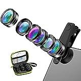hyhr Fisheye Gran Angular Macro-Impulso polarizado Starlight Seis en uno Set Universal Lente de teléfono móvil Externo
