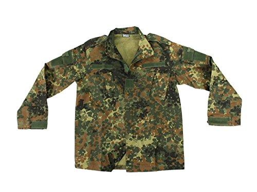 BEGADI Basics ACU Feldjacke, Ripstop, mit 4 Taschen & Verstärkungen am Ellenbogen - Flecktarn M