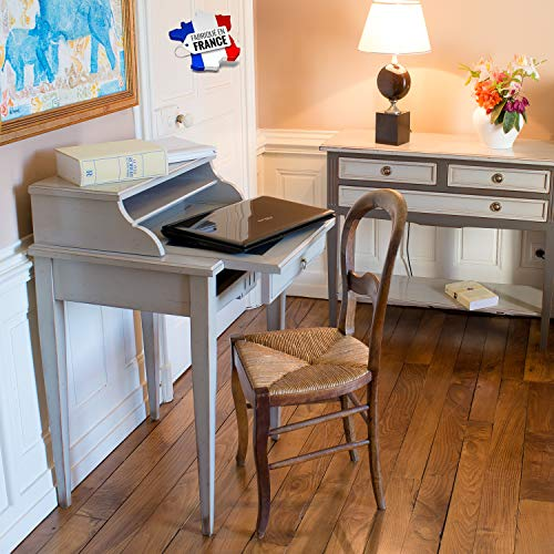 GONTIER Schreibtisch – Kirschholz massiv – 100 % hergestellt in Frankreich