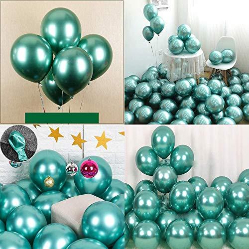 Sunshine smile 50 Stück Luftballons Gold Metallic,Goldene Luftballons,latexballons metallic,,Luftballons Geburtstag Hochzeit Party,Golden Metallballon Partyballon für Geburtstag