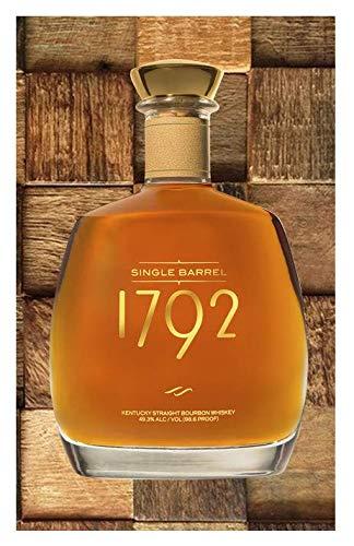 Single Barrel 1792 Kentucky Bourbon Whiskey Design Edible Image Cake Topper For Half Sheet Cake!