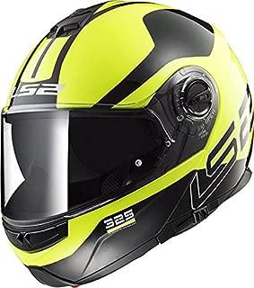 LS2 Helmets Unisex-Adult flip-up-Helmet-Style Motorcycle (Zone Hi-Viz, Medium)