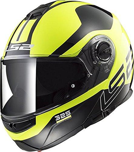 LS2 Helmets Unisex-Adult flip-up-Helmet-Style Motorcycle (Zone Hi-Viz, X-Large)