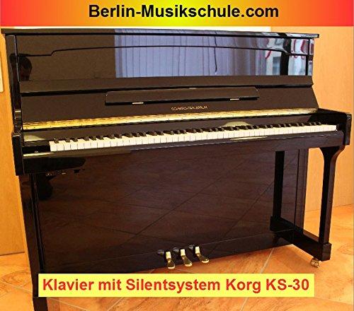 Schwechten Berlin Klavier (schwarz poliert mit Korg Hybrid Piano KS-30/KHP-300)
