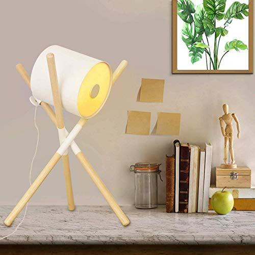 Home Equipment Lámparas de mesa en metal blanco Pantalla para salón Dormitorio de niños Sala de estar Estudio Oficina Mesa de noche moderna contemporánea Art Deco Estilo industrial Mini trípode Bas