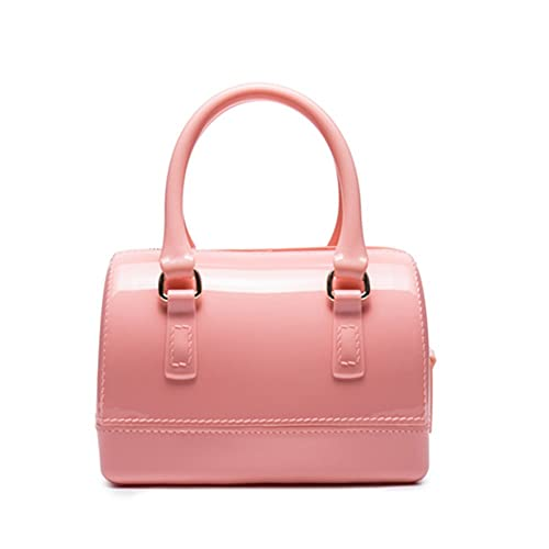 9916e8b4cd9 Girls Jelly Mini Candy Handbag Crossbody Shoulder Bags for Summer (Pink)