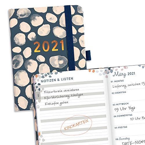Boxclever Press Perfect Year Kalender 2021. Taschenkalender 2021 A6 von Jan.-Dez.'21. Kompakter Familienplaner 2021 mit Wochenansicht, Notizen und To-dos. Terminplaner 2021 Misst 15,5 x 11 cm