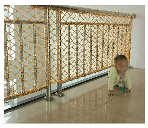 NIUFHW Stair Anti-Fall-Netz(1x4m,Gelb) Kindersicherheitsnetz Balkon Schutznetze Nylonseil Ziergitter Outdoor Zaunnetz Ladungsschutznetz Lüftungsnetz