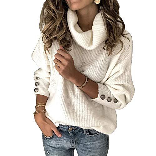 Sudadera de Cuello Alto para Mujer Jersey Jerseys para Mujer Jerséis de...