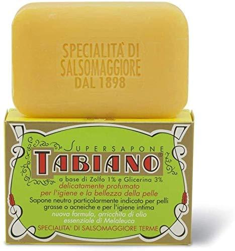 Gel douche exfoliant au soufre 250ml Tabiano, spécial peaux grasses.