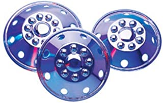 "Dicor (SHFM16) 16"" Stainless Steel 8-Lug Single/Dual Wheel Cover, (Set of 4)"