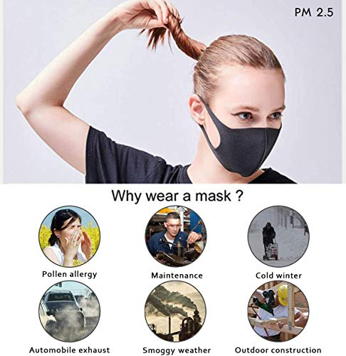 N/O 6 Pack Unisex Bandana Reusable Face Mask Washable Balaclava Scarf Multifunctional Outdoor Headwear Neck Breathable Washable Riding Motorcycle Headwear for Dust Cover UV Protection for Women & Men
