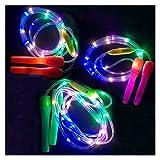 ZHJKK 2.77m LED LUDING Luminous NIÑOS Saltar Cuerdas Niños Noche Ejercicio Fitness Training Deportes...