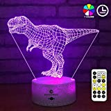 easuntec Dinosaur Night Light 7 Colors Change with Timer Remote Kids Dinosaur Toys for Boys (Carcharodontosaurus)