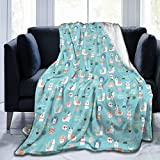 PNNUO Flannel Fleece Blanket Full Size Cute Alpaca Llama Soft Throw Blanket,All-Season Plush Blanket for Couch Bed Travelling Camping Or Kids Adults (Llama 2, 50'x40')