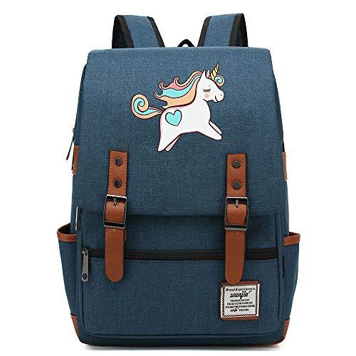 Mochila escolar con forma de unicornio arcoíris robot, mochila universitaria para adolescentes, mochila de viaje informal para senderismo, 16 pulgadas. Color-19