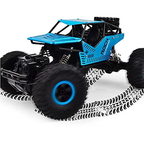 Coche de escalada todoterreno con control remoto de aleación 1:16, camión deportivo Bigfoot Rc con tracción en las cuatro ruedas para niños, modelo de coche a control remoto a la deriva, amantes de lo