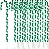 48 Plumas de Bastón de Caramelo de Navidad Bolígrafos de Bastón con Tinta Negra Pluma en Forma de Bastón de Caramelo para Suministros Fiesta Navidad(Verde)