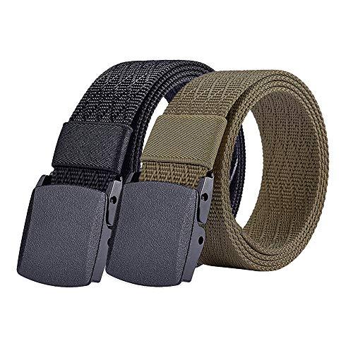 S.Lux Unisex Gürtel Nylon, Canvas Belt mit Standard YKK Kunststoff Schnalle für Damen und Herren, Stufenlos Verstellbarer Stoffgürtel