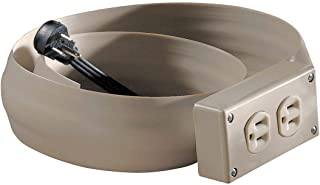 Electriduct Lay Flat Electrical Power Extension Cord Cover Cable Protector - 12FT - Beige