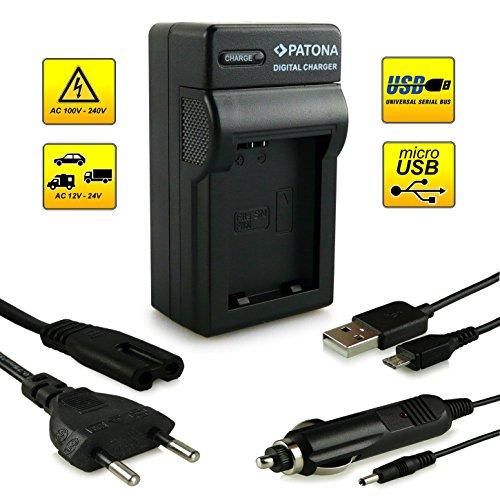 PATONA 4in1 oplader voor NP-FW50 accu compatibel met Sony NEX-3 NEX-5 NEX-6 NEX-7 Alpha SLT-A33 SLT-A37 SLT-A55
