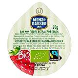 Menz&Gasser Confettura Extra Assortita Bio Albicocca, Ciliegia, Fragola e Pesca - Confettura Monodose Biologica con Frutta di Alta Qualità, 100 Porzioni x 20 g