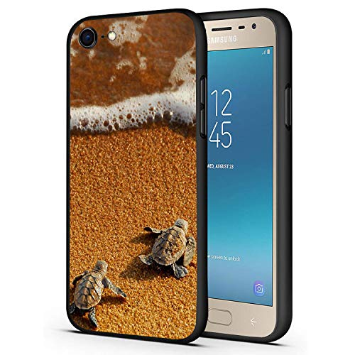 """iPhone 7 Case,iPhone 8 Case,Sea Turtle Baby On The Beach Slim Anti-Scratch Shockproof Leather Soft TPU Back Protective Cover Case for iPhone 7/iPhone 8 4.7"""""""