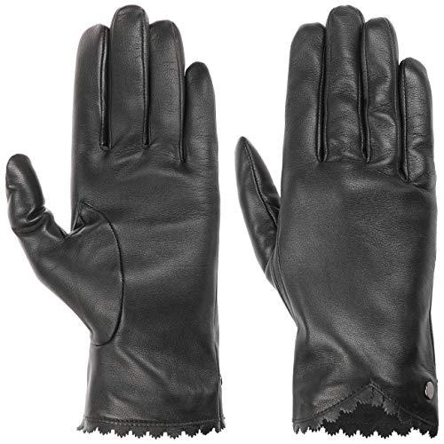 Roeckl Precious Cut Lederhandschuhe Handschuhe Damenhandschuhe Fingerhandschuhe (7 1/2 HS - schwarz)