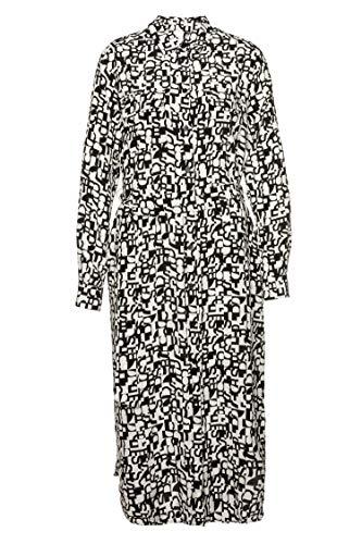 BOSS Regular-Fit blouse-jurk CALLURA van zijde met logo print patroon 960