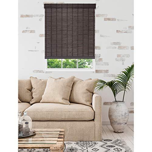 Achim Home Furnishings Persianas enrollables de bambú para Ventana, Java, 31″x72″, 1