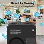[Upgraded] TREKOO Ozone Generator Air Purifier Ionizer Home Odor Remover Deodorizer for Bedroom Living Room Restroom… 10 【REMOVE TOUGH ODORS】 - This TREKOO ozone generator creates O3 which breaks down odors. Odor eliminator removes any odors for your rooms, hotels, offices, kitchens and cars such as cigarette smoke, pet odors, cooking odors, and other airborne irritants. 【NEGATIVE ION GENERATOR】 - Air cleaner refresher releases Negative Ions to purify and refresh room air up to about 166 square footage. Emitting up to 1 million negative ions per second, this negative ion machine provides you with cleaner, safer, and overall better air quality that your health deserves. 【AUTO SENSOR OPERATION】 - Saving your electricity bill. This air purifier has sensing operation. When it senses people or pets in the room, deodorizer generates ozone and negative ion for 2min every 4min. If it senses nobody, it will switch to Sleep Mode to save energy after 3 working frequecies for 2 hours and then works again. For Generation 2, it has a more powerful Manual Mode to remove tough odors in unoccupied areas. (Notice: Please read the Instructions before using Manual Mode)
