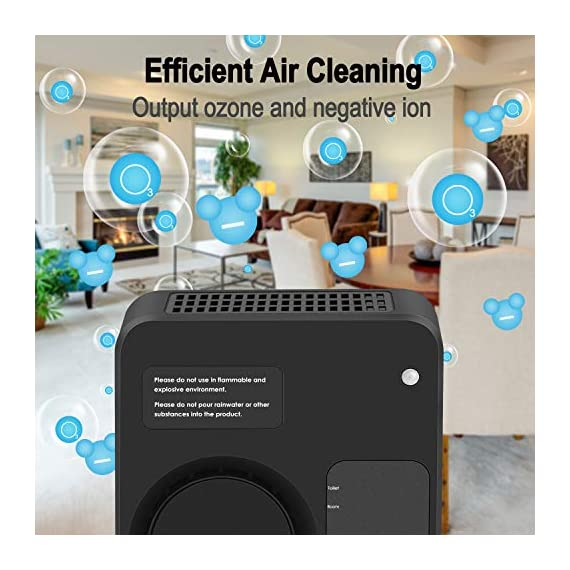 [Upgraded] TREKOO Ozone Generator Air Purifier Ionizer Home Odor Remover Deodorizer for Bedroom Living Room Restroom… 2 【REMOVE TOUGH ODORS】 - This TREKOO ozone generator creates O3 which breaks down odors. Odor eliminator removes any odors for your rooms, hotels, offices, kitchens and cars such as cigarette smoke, pet odors, cooking odors, and other airborne irritants. 【NEGATIVE ION GENERATOR】 - Air cleaner refresher releases Negative Ions to purify and refresh room air up to about 166 square footage. Emitting up to 1 million negative ions per second, this negative ion machine provides you with cleaner, safer, and overall better air quality that your health deserves. 【AUTO SENSOR OPERATION】 - Saving your electricity bill. This air purifier has sensing operation. When it senses people or pets in the room, deodorizer generates ozone and negative ion for 2min every 4min. If it senses nobody, it will switch to Sleep Mode to save energy after 3 working frequecies for 2 hours and then works again. For Generation 2, it has a more powerful Manual Mode to remove tough odors in unoccupied areas. (Notice: Please read the Instructions before using Manual Mode)