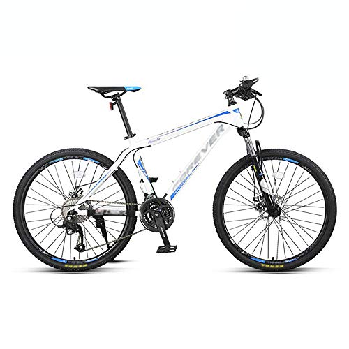 Bike, 27 Speed Mountain Bike, All-Terrain Shock Bicycle, with Aluminum Alloy Frame, for Adult and Teenagers, Easy to Install, Anti-Slip, Double disc Brake/Blue / 165x92cm