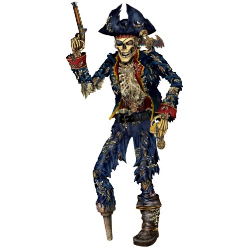 Jointed Pirate Skeleton Party Accessory (1 count) (1/Pkg)