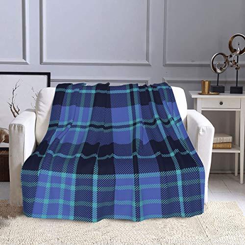 Manta de forro polar Clark Clergy Cargill, manta de tela de tartán ultra suave y cálida para sofá, cama, sofá, oficina y sala de estar, 127 x 152 cm