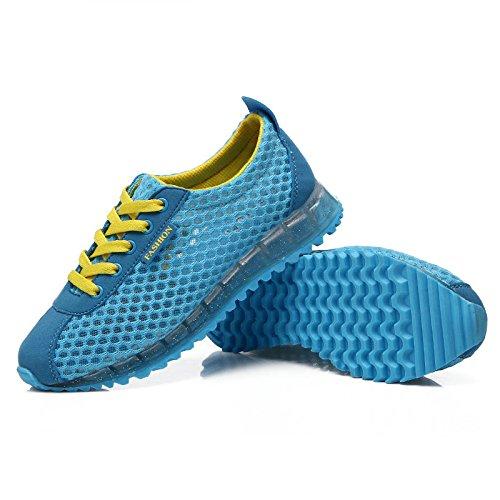 Baqijian Women Mesh Running Shoes Breathable Summer Ladies Sneakers New Sport Shoes for Women Lightweight Jogging Walking Shoes Blue 5.5