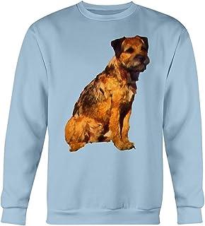Border Terrier 'Andrew' Cotton Fleece Crew Sweatshirt