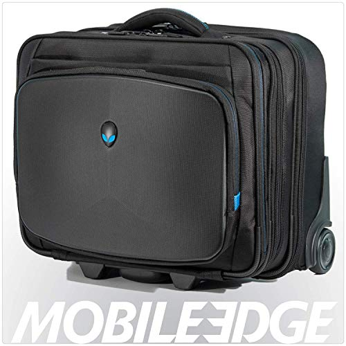 Mobile Edge Alienware Vindicator Bag Rolling Laptop Case 13 Inch to 17 Inch Black AWVRC1
