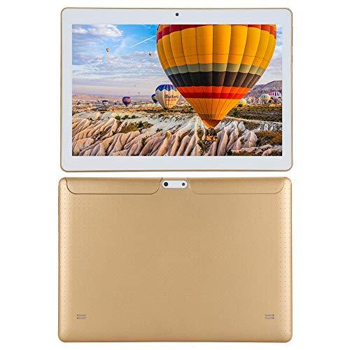 Tableta de 10.1', Tableta de Llamada con Pantalla IPS HD Full-View Tableta portátil, 1 GB de RAM, 16 GB de Almacenamiento, Procesador Quadcore, Doble Tarjeta de Llamada 3G(Dorado)
