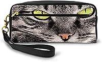 猫スチームウォーターシンクドロップ PUレザー革ペン袋 収納ケース 中高校生 大容量 多機能 男女兼用 通学 小学生 鉛筆ケース ペン袋 最高の贈り物