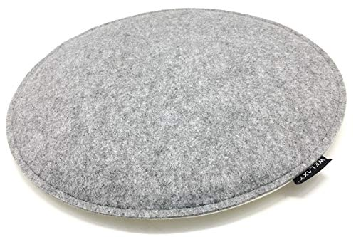 Welaxy Felt Chair Pads seat Cushion Minimalist for Eames Chair DSW Plastic Chairs Pads for Office Indoor Home Dining,Round (Gray + White)