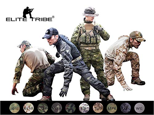 Elite Tribe Emerson Airsoft táctico BDU Traje Militar Combate Gen3 Uniforme Camisa Pantalones (Multicam Black, Large)