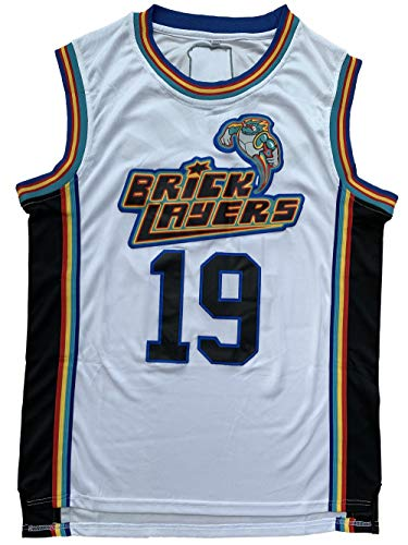 Aaliyah #19 Brick Layers 1996 MTV Rock N Jock 90s Hip Hop Clothes for Party Men Basketball Jersey White (White 19, XXX-Large)