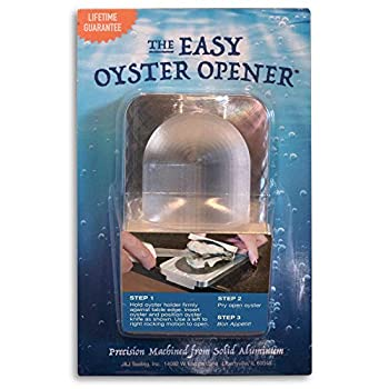 The EZ-OYSTER Easy Oyster Opener Shucking Tool – Solid Aluminum Construction  Dishwasher Safe
