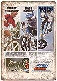 Lawenp Skyway Recreation BMX Racing Tin Retro Sign Vintage Metal Poster Targa Segnali di A...