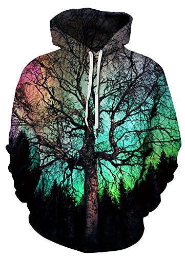 Azuki Men's Patterns Print Athletic Sweaters Fashion Hoodies Sweatshirts S