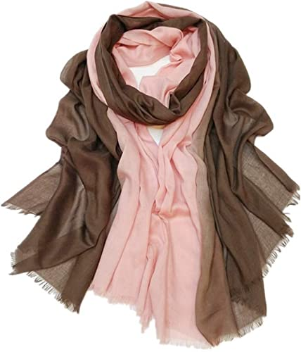 NANIH Home Long chale Doux Wrap pour Voyage Femmes Foulard Double Couleur écharpe (Taille  180  100 cm)