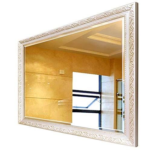 Household Necessities/stijlspiegel wandspiegel vierkant badkamer dressing spiegel wastafel dikke spiegel houten frame licht en realistisch 40x60cm