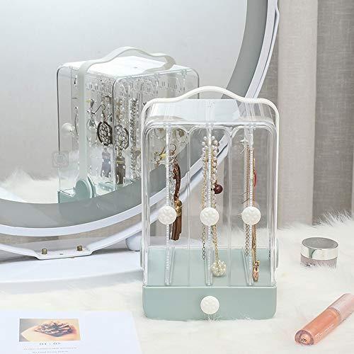 CYYMY Schmuck Organizer, Aufbewahrungsbox aus transparentem Kunststoff mit Schubladen Schmuckaufbewahrung für Kommode oder Waschtisch Durchsichtig,Grün